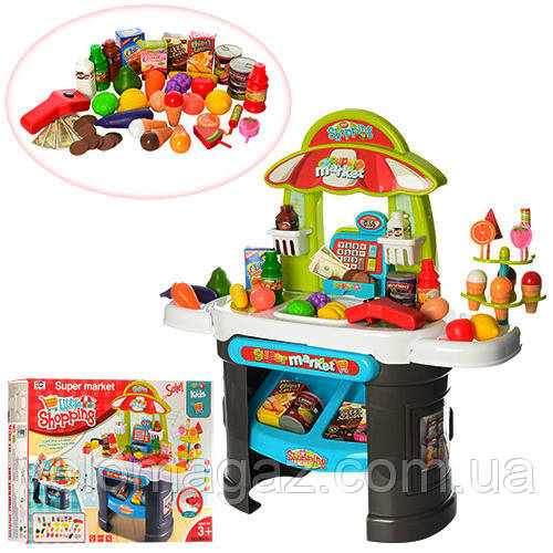 Игрушечный детский магазин, кассовый аппарат, сканер, продукты 008-911