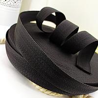 Тесьма черная ленточная ременная 25 мм 50 м конструкция елочка для сумок и рюкзаков.Турция.