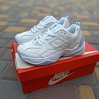 Женские кроссовки Nike M2K Tekno (бело-серые) 20230