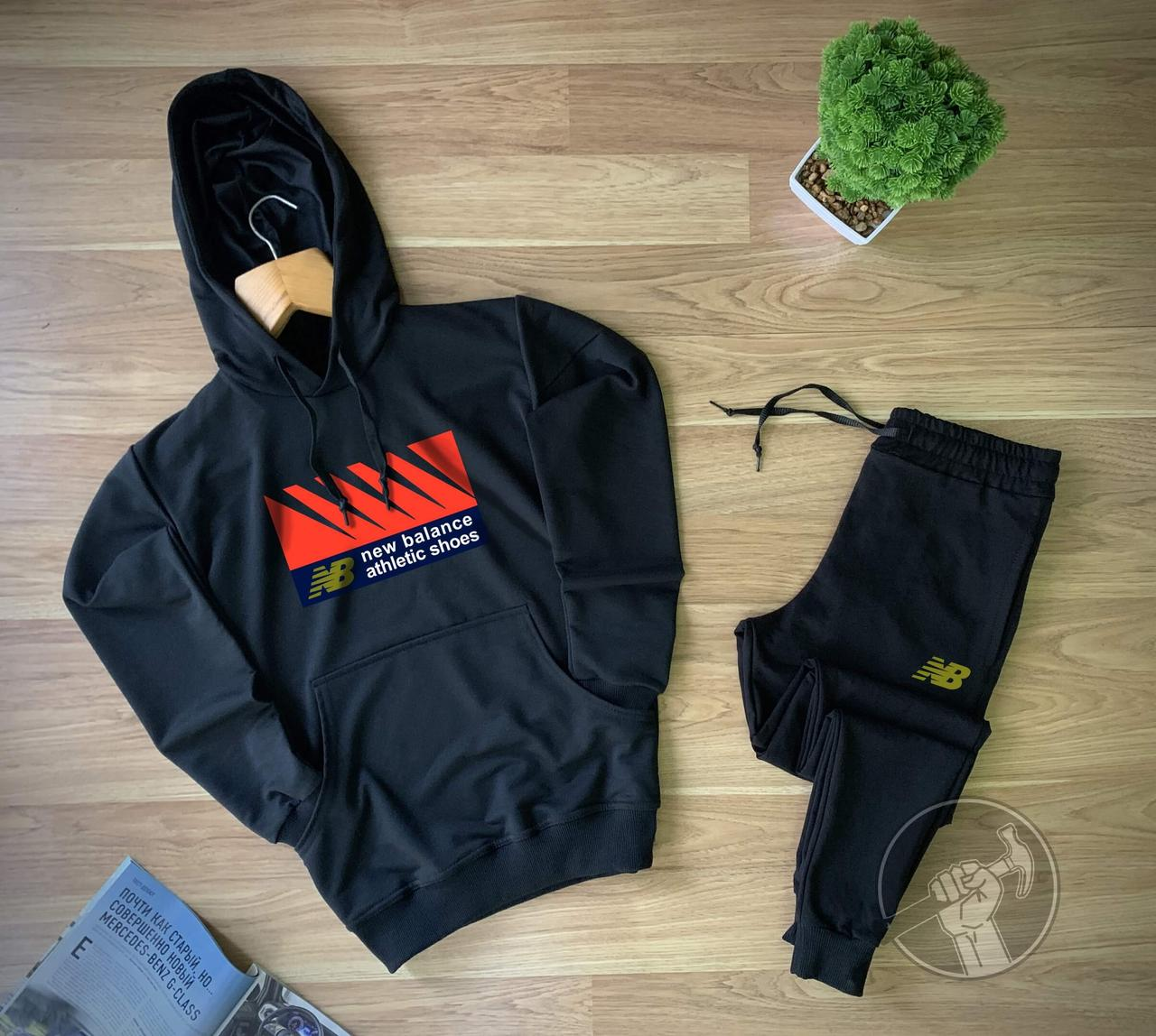 Мужской спортивный костюм New Balance черного цвета (Мужской спортивный костюм Нью Баланс весна/осень)