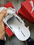 Жіночі кросівки Puma Han Kjobenhavn White/Grey (біло-сірі) 510GL, фото 2