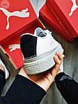Жіночі кросівки Puma Han Kjobenhavn White/Grey (біло-сірі) 510GL, фото 3