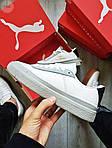 Жіночі кросівки Puma Han Kjobenhavn White/Grey (біло-сірі) 510GL, фото 6