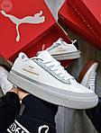 Жіночі кросівки Puma Han Kjobenhavn White/Grey (біло-сірі) 510GL, фото 7