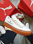 Жіночі кросівки Puma Han Kjobenhavn White/BROWN (біло-коричневі) 497GL, фото 2