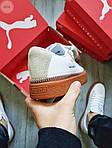 Жіночі кросівки Puma Han Kjobenhavn White/BROWN (біло-коричневі) 497GL, фото 4