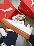Жіночі кросівки Puma Han Kjobenhavn White/BROWN (біло-коричневі) 497GL, фото 6