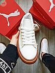 Жіночі кросівки Puma Han Kjobenhavn White/BROWN (біло-коричневі) 497GL, фото 7