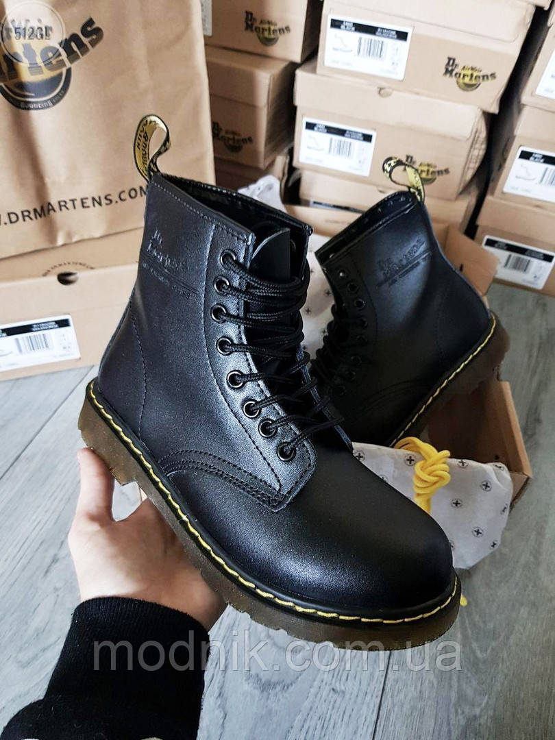 Мужские демисезонные ботинки Dr. Martens (без меха) черные 512GL