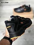 Мужские кроссовки Reebok Dmx (черно/оранжевые) KS 1544, фото 2