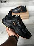 Мужские кроссовки Reebok Dmx (черно/оранжевые) KS 1544, фото 3