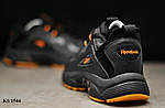 Мужские кроссовки Reebok Dmx (черно/оранжевые) KS 1544, фото 5