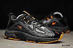 Мужские кроссовки Reebok Dmx (черно/оранжевые) KS 1544, фото 6