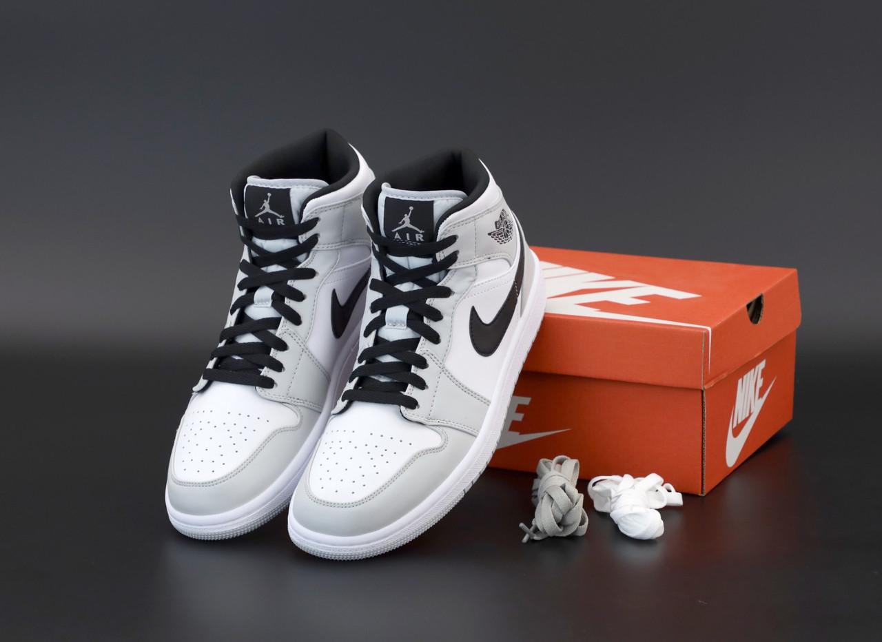 Чоловічі кросівки Nike Air Jordan 1 Retro grey. [Розміри в наявності: 40,42,43,44,45]