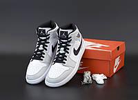 Чоловічі кросівки Nike Air Jordan 1 Retro grey. [Розміри в наявності: 40,42,43,44,45], фото 1