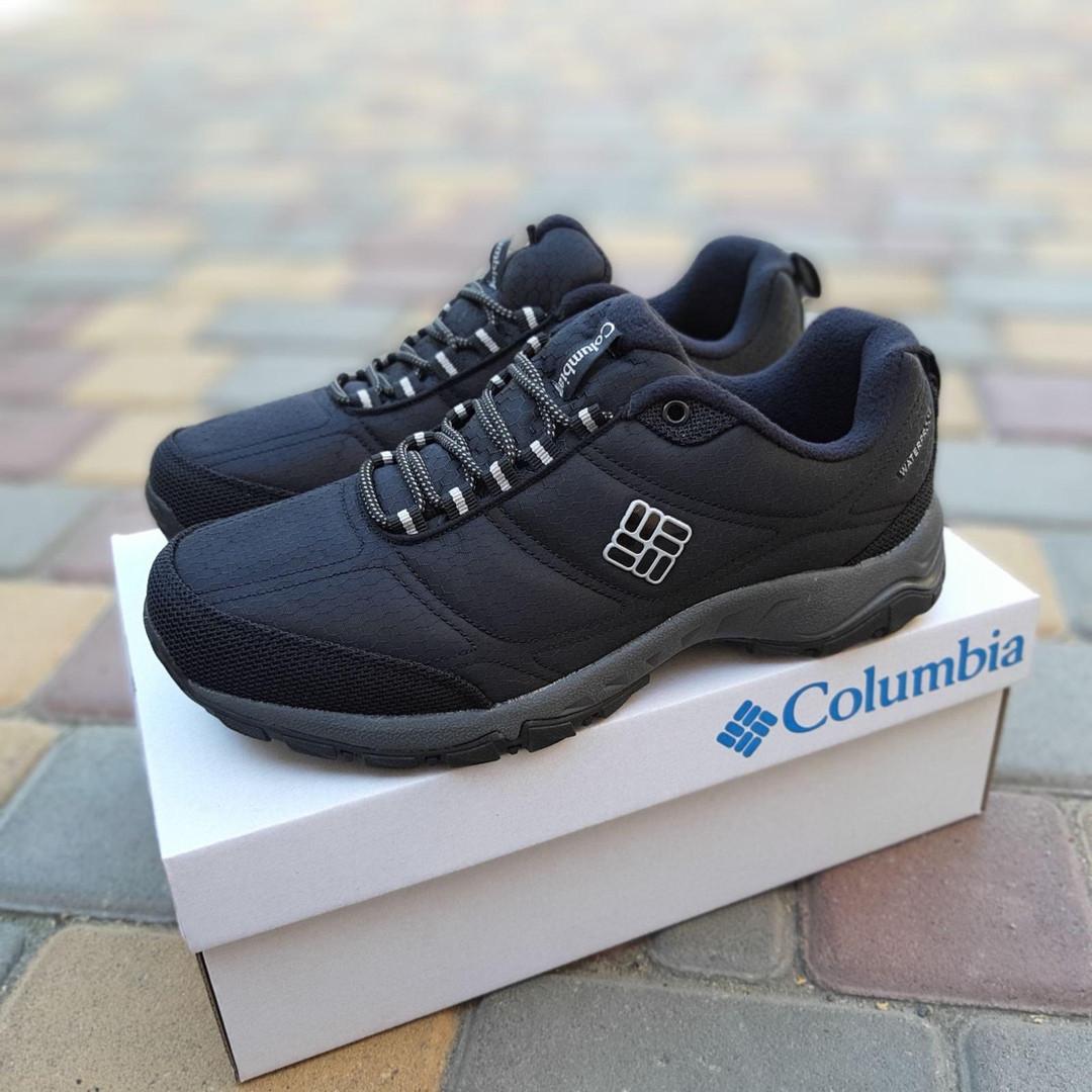 Чоловічі зимові кросівки Columbia Firecamp (чорно-білі) 3542