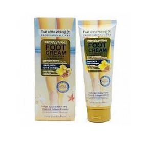 Крем для ног WOKALI Professional Foot Cream. Snail with Q10 & Collagen