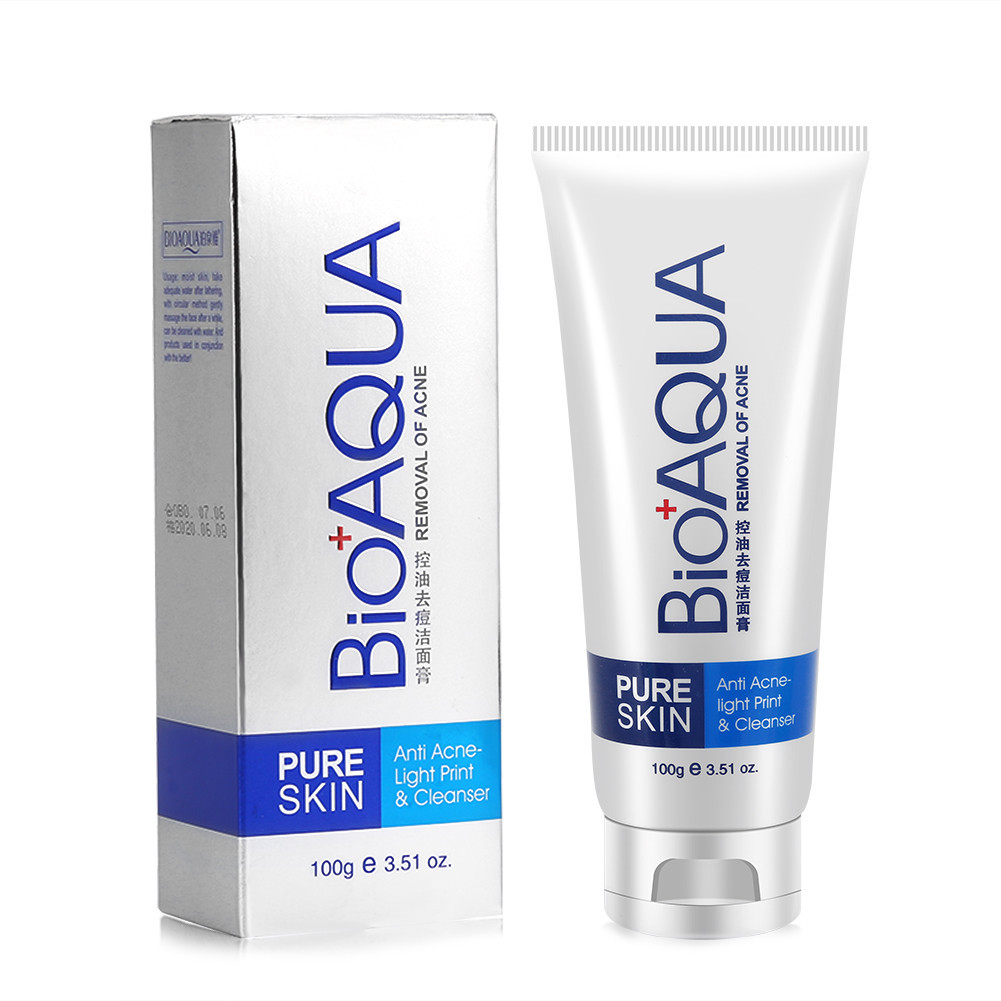 Пенка для умывания BIOAQUA Pure Skin Anti Acne-light Print & Cleanser 100 г