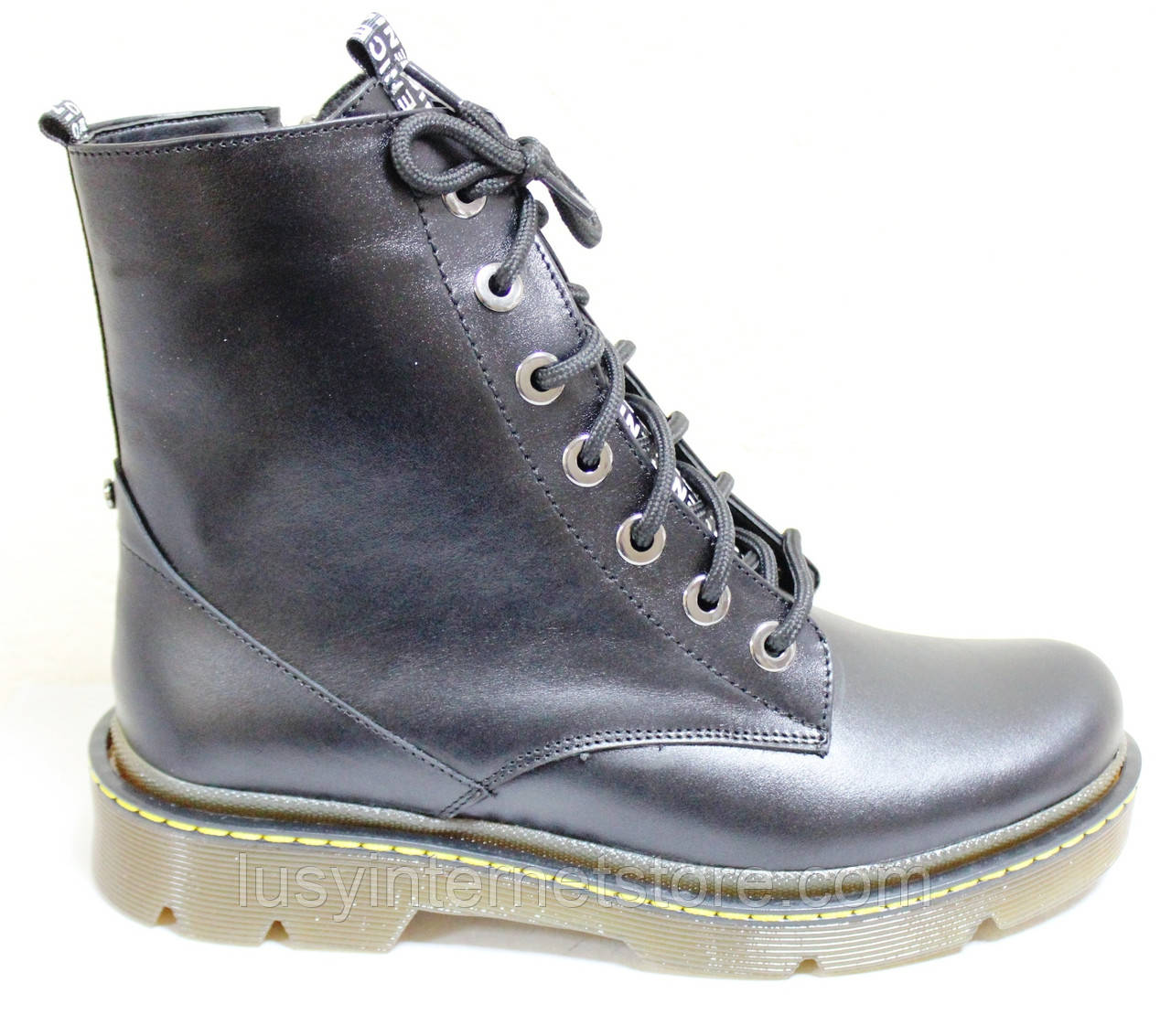 Ботинки высокие женские осенние кожаные от производителя модель БМ322-1Д