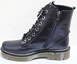 Ботинки высокие женские осенние кожаные от производителя модель БМ322-1Д, фото 3