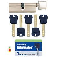 Личинка замка входной двери Mul-t-lock Integrator 110мм 55x55Т ключ-тумблер никель-сатин