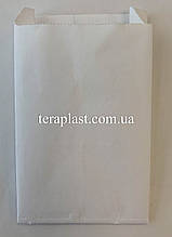 Пакет бумажный саше белый 85х140х30 с ламинацией