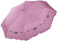 Розовый зонтик с рюшами Три Слона ( полный автомат ) арт. L3818-7, фото 1