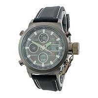 Часы Amst All Black АМСТ военные противоударные (R0009)