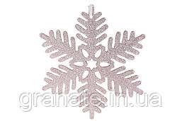 Новогодний декор Снежинка, 25см, цвет - золото (45 шт) розовый