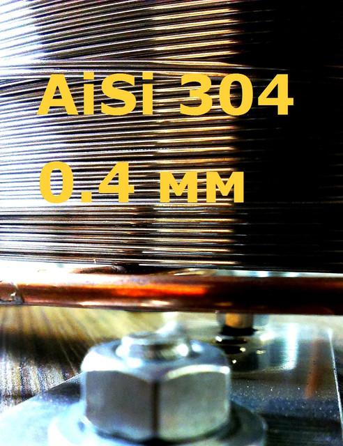 Проволока нержавеющая для сигарет AISI 304 д. 0,4 мм