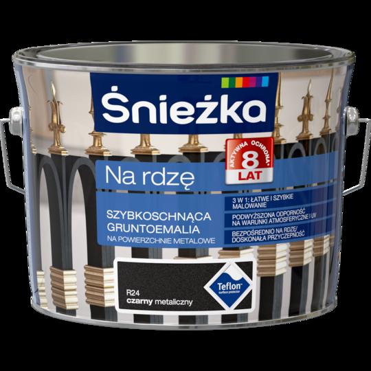 Грунт эмаль Sniezka на ржавчину (R24) ЧЕРНЫЙ металлик 2.5л