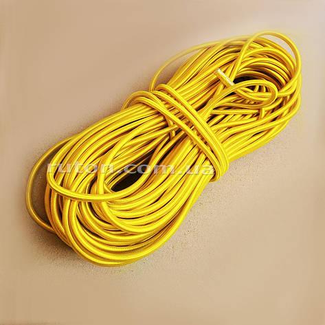6 мм 50 м Эластичний резиновий шнур еспандер жовтий для спорта, фото 2