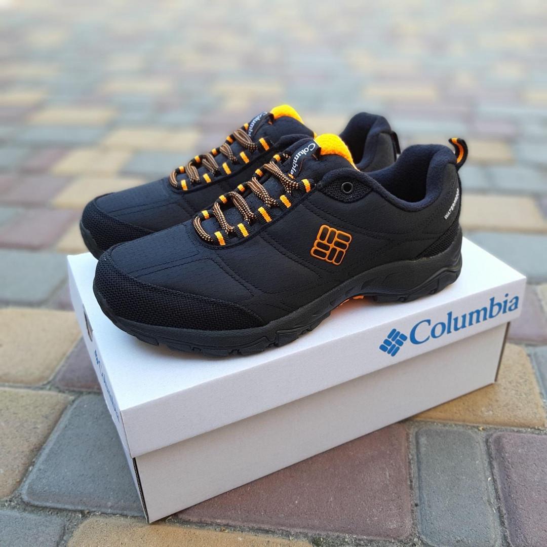 Мужские зимние кроссовки Columbia Firecamp (черно-оранжевые) 3539