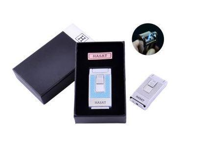 Запальничка в подарунковій коробці HASAT (Гостре полум'я) №4314 Blue