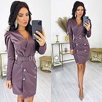 Модное женское платье из костюмной ткани с 42 по 48 рр