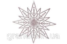 Новогодний декор Рождественская звезда 24см, 30шт розовый