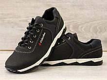Туфли мужские спортивные черные демисезон (Кт-26чбк)