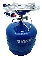 Газовий балон з пальником і п'єзопідпалом SIGMA (кемпінг) COMFORT 5 літрів