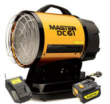 Дизельный инфракрасный нагреватель воздуха +Battery +Charger (4011.200) Master DC 61