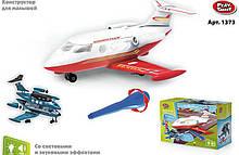 Конструктор для малюків Play Smart Літак світло, звук арт.1373