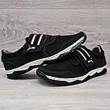 42 Размер! Кроссовки мужские черного цвета на липучку львовской фабрики (Кс-36чб), фото 4