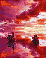 Картина по номерам Brushme Малиновый закат 40х50 см GX28890, КОД: 1317757