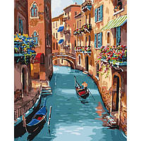 Картина по номерам Идейка Городской пезаж 40х50 см Солнечная Венеция KHO2153, КОД: 1319236