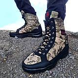 Черевики чоловічі зимові камуфляжні на хутрі (Кбл-416з), фото 3