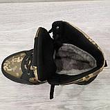 Черевики чоловічі зимові камуфляжні на хутрі (Кбл-416з), фото 6