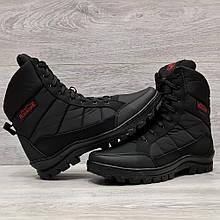Ботинки утепленные мужские зимние на меху прошитые (Кбл-410ч)