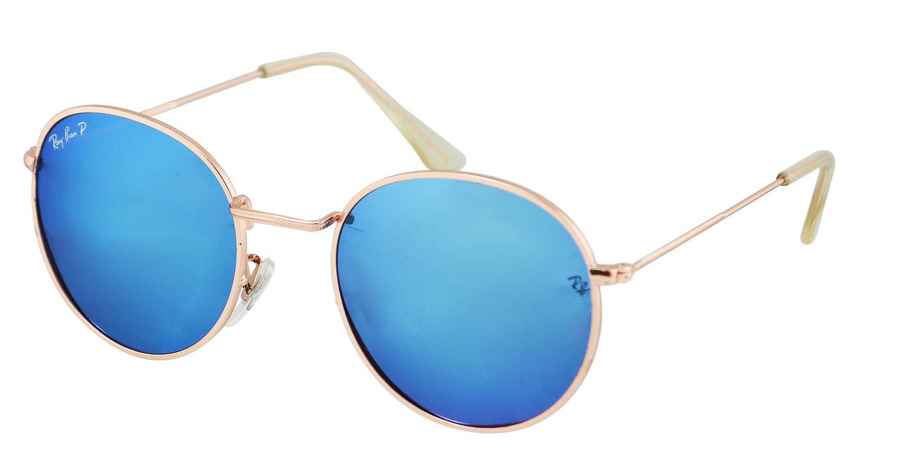 Солнцезащитные очки Ray Ban Round Metal 3448P 112/17 Polarized Blue