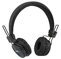 Беспроводные Bluetooth стерео наушники NIA X3 с МР3 и FM черный (4362)