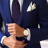 Мужские наручные часы черного цвета с белым циферблатом (ч-102), фото 3