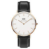 Мужские наручные часы черного цвета с белым циферблатом (ч-102), фото 4
